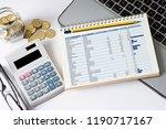household budget planning | Shutterstock . vector #1190717167