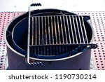campground fire pit barbeque... | Shutterstock . vector #1190730214
