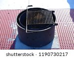 campground fire pit barbeque... | Shutterstock . vector #1190730217