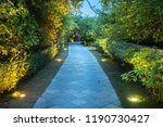 garden path in resort with warm ... | Shutterstock . vector #1190730427