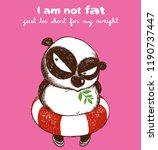 chubby panda cute panda... | Shutterstock .eps vector #1190737447