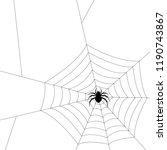 spider silhouette vector.... | Shutterstock .eps vector #1190743867