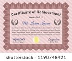 red classic certificate... | Shutterstock .eps vector #1190748421