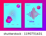 the posters of a music party.... | Shutterstock .eps vector #1190751631