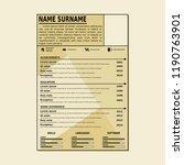 cv simple template | Shutterstock .eps vector #1190763901