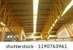 roof steel structure | Shutterstock . vector #1190763961