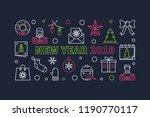 new year 2019 horizontal banner.... | Shutterstock .eps vector #1190770117
