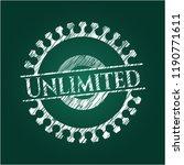 unlimited chalk emblem written... | Shutterstock .eps vector #1190771611