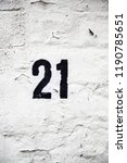 number twenty one of... | Shutterstock . vector #1190785651