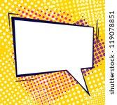 retro comic bubble | Shutterstock .eps vector #119078851