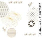 japanese template vector. gold... | Shutterstock .eps vector #1190791087