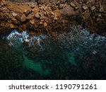 aerial view of waves  rocks and ... | Shutterstock . vector #1190791261