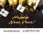 happy new year's layout.... | Shutterstock . vector #1190792734