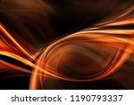 futuristic technology orange...   Shutterstock . vector #1190793337