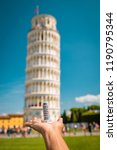 leaning tower of pisa  italy ... | Shutterstock . vector #1190795344