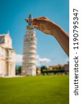 leaning tower of pisa  italy ... | Shutterstock . vector #1190795347