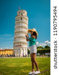 leaning tower of pisa  italy ... | Shutterstock . vector #1190795494