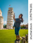 leaning tower of pisa  italy... | Shutterstock . vector #1190796181