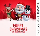 merry christmas greeting with... | Shutterstock .eps vector #1190800531