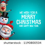 christmas vector background... | Shutterstock .eps vector #1190800534