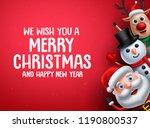 christmas vector background... | Shutterstock .eps vector #1190800537