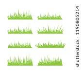 illustration of grass... | Shutterstock .eps vector #1190805214