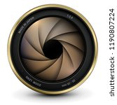 camera photo lens with shutter  ... | Shutterstock .eps vector #1190807224