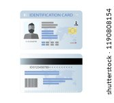 the idea of personal identity.... | Shutterstock .eps vector #1190808154