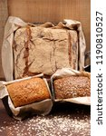 different types of bread and... | Shutterstock . vector #1190810527