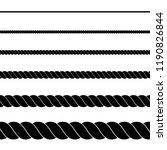 silhouette of black rope on...   Shutterstock .eps vector #1190826844