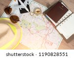 travel ideas with maps | Shutterstock . vector #1190828551