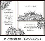invitation greeting card with... | Shutterstock . vector #1190831431