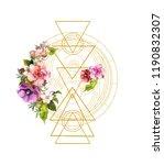 flowers with golden magic... | Shutterstock . vector #1190832307