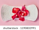 sanitary napkin and flower... | Shutterstock . vector #1190832991
