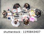 successful business team in a... | Shutterstock . vector #1190843407