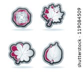 4 flora icons  nature  closeup  ... | Shutterstock .eps vector #119084509