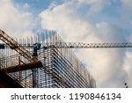 steel frameworks of building... | Shutterstock . vector #1190846134