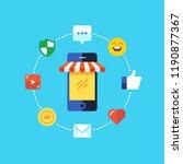 mobile marketing   e marketing  ...   Shutterstock .eps vector #1190877367