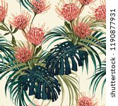 floral seamless vector tropical ... | Shutterstock .eps vector #1190877931
