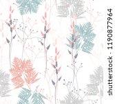 fern and wild herbs seamless... | Shutterstock .eps vector #1190877964