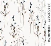 vector floral seamless pattern... | Shutterstock .eps vector #1190877994