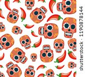mask of the santa death pattern ... | Shutterstock .eps vector #1190878144