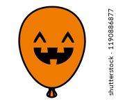 halloween balloon helium with... | Shutterstock .eps vector #1190886877
