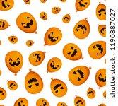 halloween balloon helium with... | Shutterstock .eps vector #1190887027