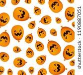 halloween balloon helium with... | Shutterstock .eps vector #1190887051