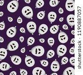 halloween balloon helium with... | Shutterstock .eps vector #1190887057