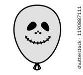 halloween balloon helium with... | Shutterstock .eps vector #1190887111