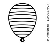 halloween balloon helium with... | Shutterstock .eps vector #1190887924