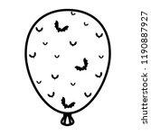 halloween balloon helium with... | Shutterstock .eps vector #1190887927