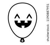 halloween balloon helium with... | Shutterstock .eps vector #1190887951